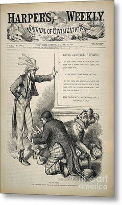 Nast: Civil Service Reform Metal Print by Granger