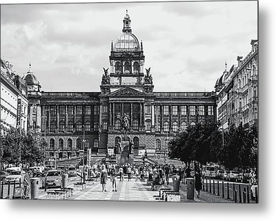 Metal Print featuring the photograph National Museum At Wenceslas Square. Prague by Jenny Rainbow
