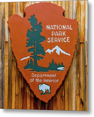 National Park Service Sign Metal Print by Brian MacLean