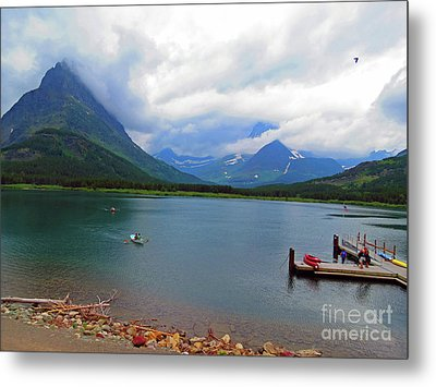 National Parks. Serenity Of Mcdonald Metal Print by Ausra Huntington nee Paulauskaite