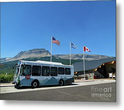 Metal Print featuring the photograph National Parks. St. Mary Visitor Center At Glacier by Ausra Huntington nee Paulauskaite