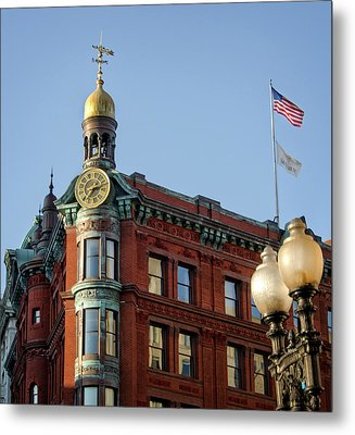 Metal Print featuring the photograph National Savings And Trust Company by Greg Mimbs