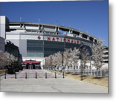 Nationals Park In Washington D.c. Metal Print by Brendan Reals