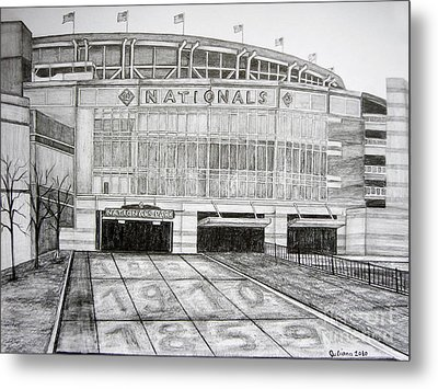 Nationals Park Metal Print by Juliana Dube
