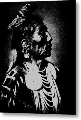 Native American 2 Curtis Metal Print by David Bridburg