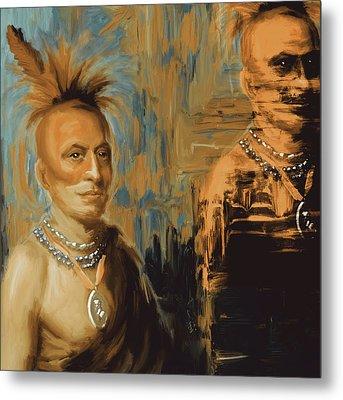 Native American 273 2 Metal Print by Mawra Tahreem