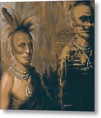 Native American 273 4 Metal Print by Mawra Tahreem