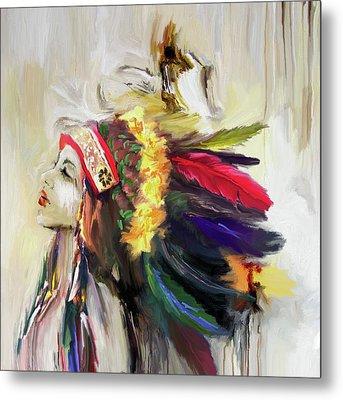 Native American 274 1 Metal Print by Mawra Tahreem