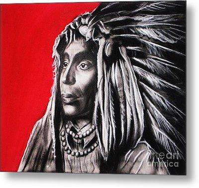 Native American Metal Print by Anastasis  Anastasi