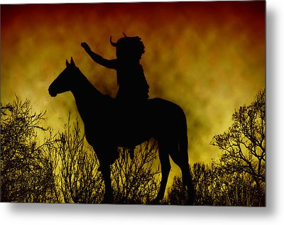 Native American Chief Metal Print by Bill Cannon