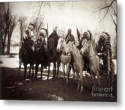Native American Chiefs Metal Print by Granger