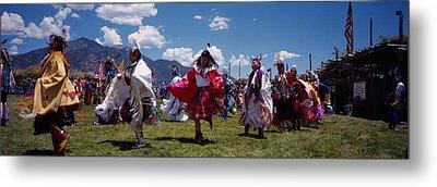 Native Americans Dancing, Taos, New Metal Print