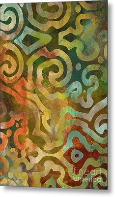 Native Elements Multicolor Metal Print by Mindy Sommers