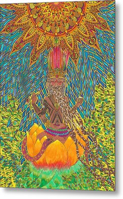 Native Lord Brahma Metal Print