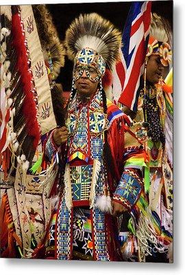 Native Pride 24 Metal Print by Bob Christopher