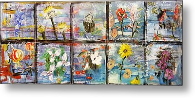 native Texas wildflowers A Metal Print by Michael Dillon