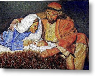Nativity Scene Metal Print by G Cuffia