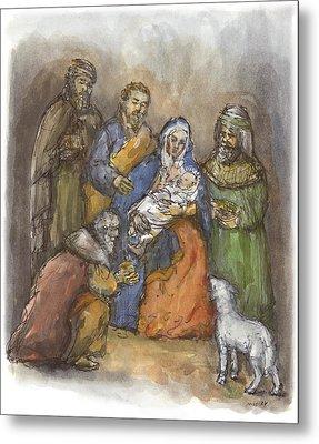 Nativity Metal Print by Walter Lynn Mosley