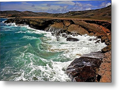 Metal Print featuring the photograph Natural Bridge Aruba by Suzanne Stout