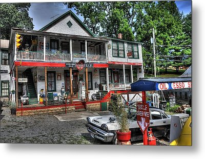 Natural Bridge Station Store Metal Print by Todd Hostetter
