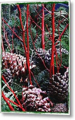 Natural Christmas Card 2 Metal Print by Sarah Loft