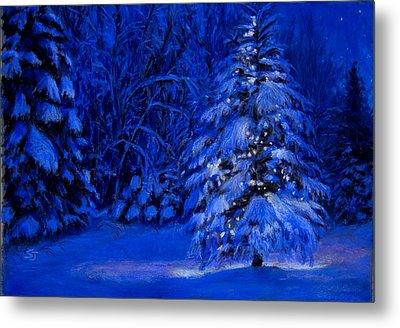 Natural Christmas Tree Metal Print by Susan Jenkins