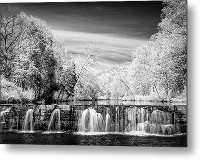Metal Print featuring the photograph Natural Dam Film Noir by James Barber