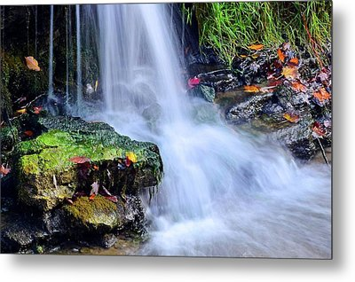 Metal Print featuring the photograph Natural Flowing Water by Frozen in Time Fine Art Photography