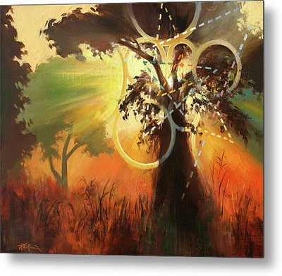 Metal Print featuring the painting Natural Mystic by Dave Platford
