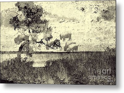 Nature Collage Metal Print by Mickey Harkins