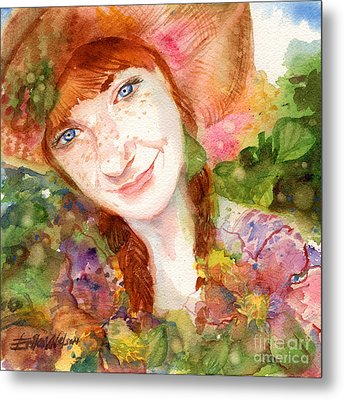 Nature Girl Metal Print by Erika Nelson