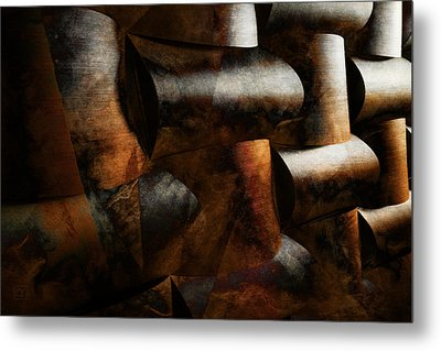 Metal Print featuring the digital art Nature Re-patterned by Jean Moore