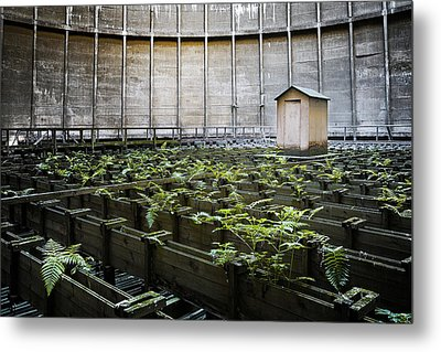 Metal Print featuring the photograph Nature Takes Back - Inside Cooling Tower by Dirk Ercken