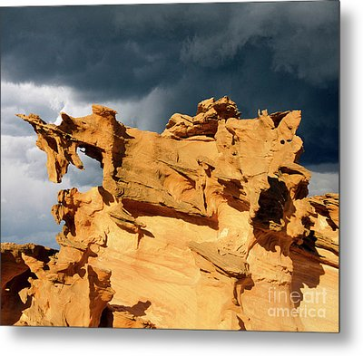 Metal Print featuring the photograph Nature's Artistry Nevada 3 by Bob Christopher