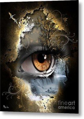 Natures Eye Metal Print