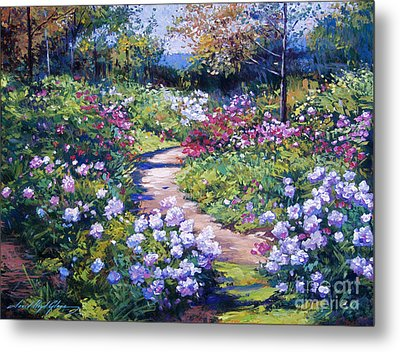 Nature's Garden Metal Print by David Lloyd Glover