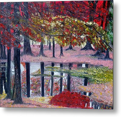 Metal Print featuring the painting Natures Painting by Marilyn  McNish