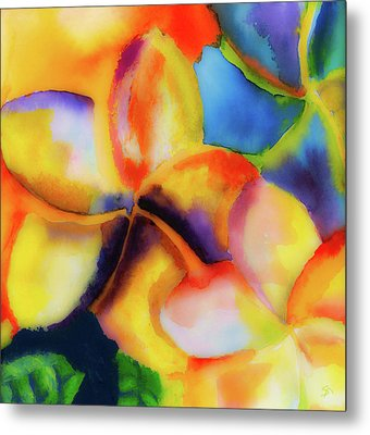 Metal Print featuring the painting Nature's Pinwheels by Stephen Anderson