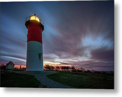 Nauset Lighthouse Metal Print by Rick Berk