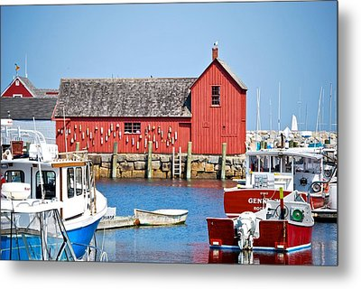 Nautical Rockport Days Metal Print