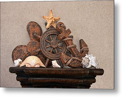 Nautical Still Life Iv Metal Print by Tom Mc Nemar