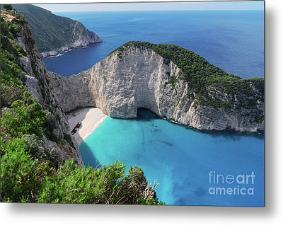 Navagio Beach Metal Print