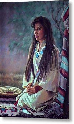 Navajo Beauty Metal Print by Jean Hildebrant