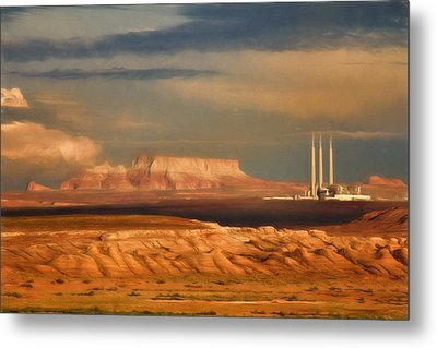 Metal Print featuring the photograph Navajo Generating Station by Lana Trussell