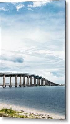 Metal Print featuring the photograph Navarre Bridge In Florida On The Sound Side by Shelby Young