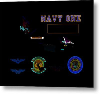 Navy One Metal Print