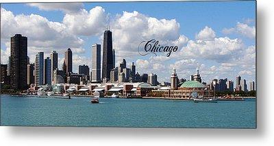 Navy Pier In Chicago Metal Print