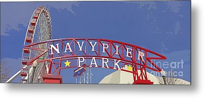 Navy Pier Metal Print by Mary Machare