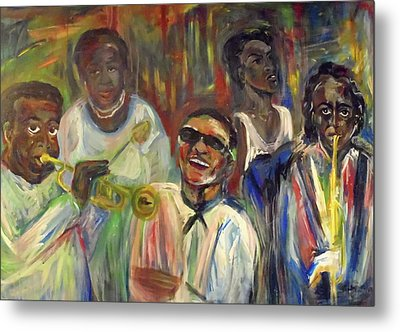 Nawlins Jazz Metal Print by Made by Marley