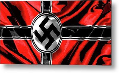 Nazi Flag Color Added 2016 Metal Print